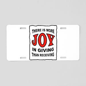 JOY Aluminum License Plate