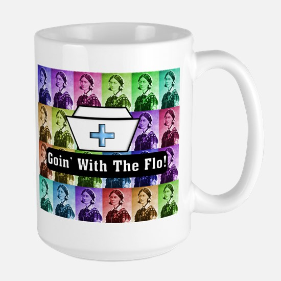 Going with the Flo.PNG Large Mug