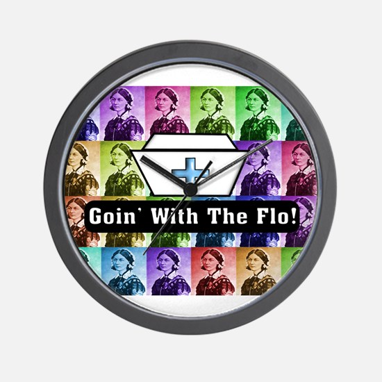 Going with the Flo.PNG Wall Clock