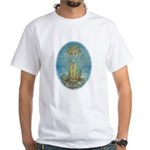 White T-Shirt Vishnu on Shesha