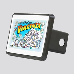 Virginia Map Greetings Rectangular Hitch Cover