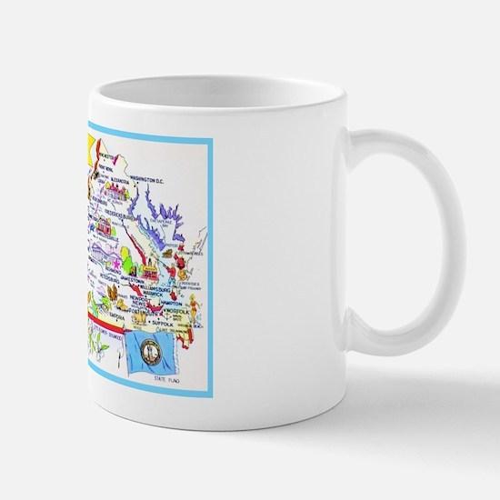 Virginia Map Greetings Mug