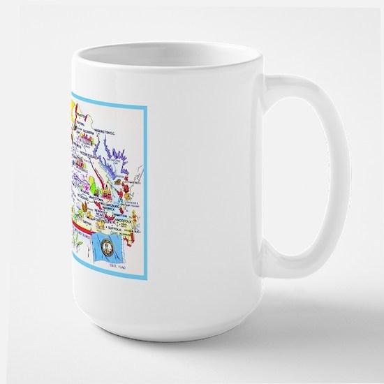 Virginia Map Greetings Large Mug