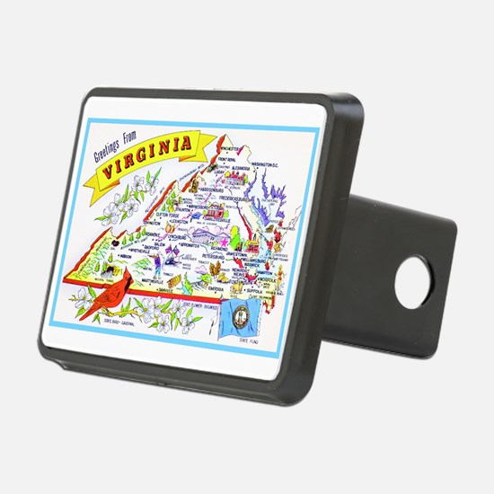 Virginia Map Greetings Hitch Cover