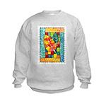 Autumn Quilt Watercolor Kids Sweatshirt