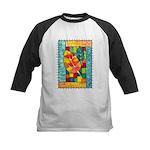 Autumn Quilt Watercolor Kids Baseball Jersey