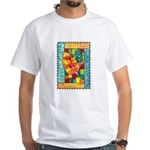 Autumn Quilt Watercolor White T-Shirt