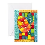 Autumn Quilt Watercolor Greeting Cards (Pk of 10)