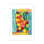 Autumn Quilt Watercolor Mini Poster Print