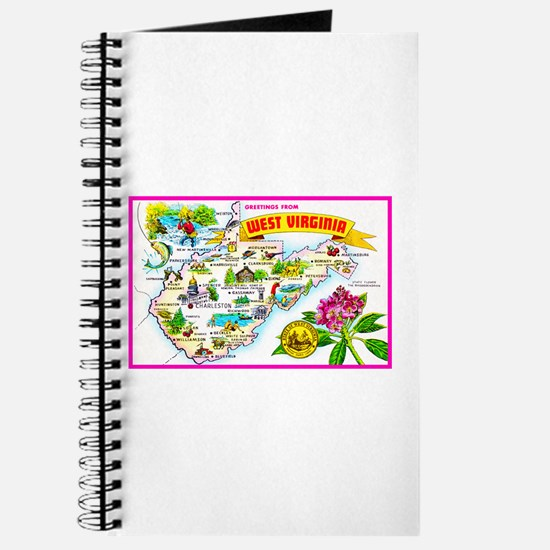 West Virginia Map Greetings Journal