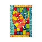 Autumn Quilt Watercolor Rectangle Magnet