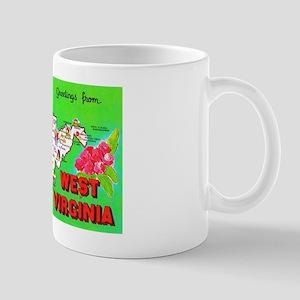 West Virginia Map Greetings Mug