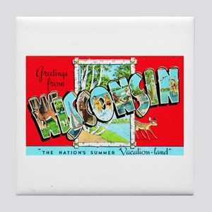 Wisconsin Greetings Tile Coaster