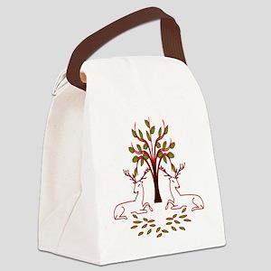 Resting Reindeer Canvas Lunch Bag