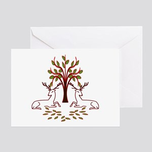 Resting Reindeer Greeting Card