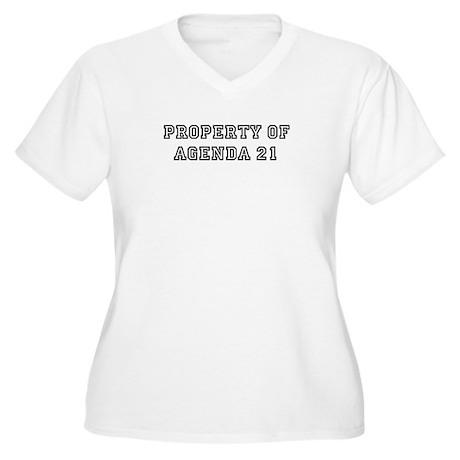 Property of Agenda 21 Women's Plus Size V-Neck T-S