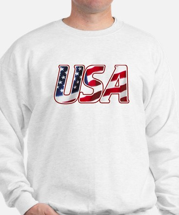 USA in Red White & Blue Sweatshirt