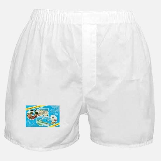 Cape Cod Massachusetts Greetings Boxer Shorts