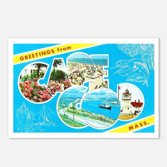 Cape Cod Massachusetts Greetings Postcards (Packag