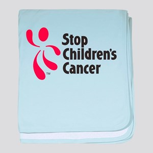 Stop Children's Cancer Logo baby blanket