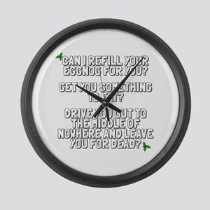 Leave You For Dead Large Wall Clock