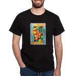 Autumn Quilt Watercolor Black T-Shirt