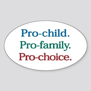 Pro-Choice Oval Sticker