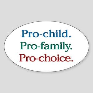 Pro-Choice Oval Sticker