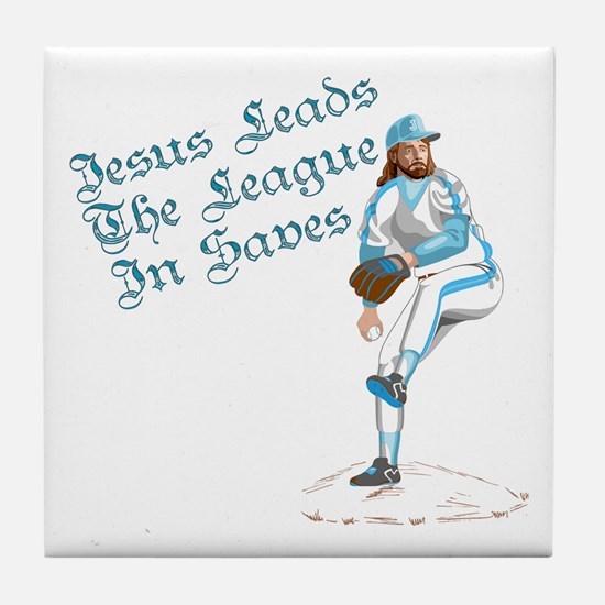 Jesus Leads The League In Sav Tile Coaster