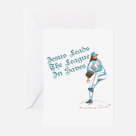 Jesus Leads The League In Sav Greeting Cards (Pack