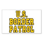 U.S. BORDER PATROL: Rectangle Sticker
