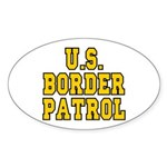 U.S. BORDER PATROL: Oval Sticker