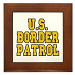 U.S. BORDER PATROL: Framed Tile