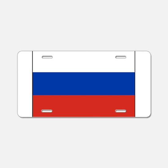 Russia - National Flag - Current Aluminum License