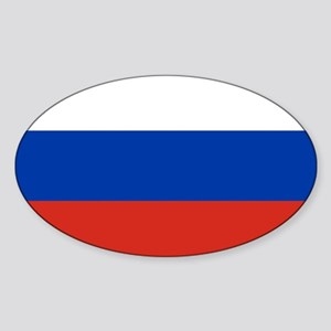 Russia - National Flag - Current Sticker (Oval)