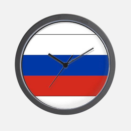Russia - National Flag - Current Wall Clock