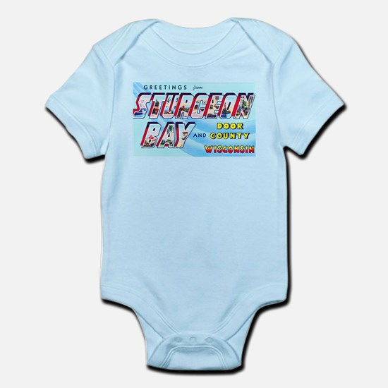 Sturgeon Bay Wisconsin Greetings Infant Bodysuit