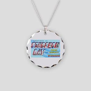 Sturgeon Bay Wisconsin Greetings Necklace Circle C