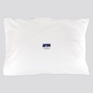 Merry Christmas Snow Horses Pillow Case