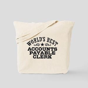 World's Best Accounts Payable Clerk Tote Bag