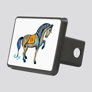 tang horse two transp Rectangular Hitch Cover