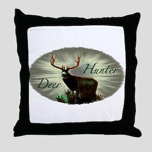 Deer Hunter Throw Pillow