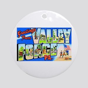 Valley Forge Pennsylvania Ornament (Round)