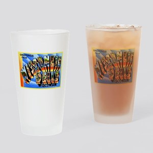 Wisconsin Dells Greetings Drinking Glass