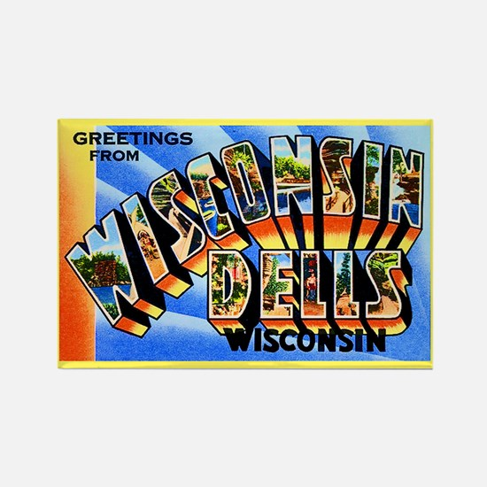 Wisconsin Dells Greetings Rectangle Magnet