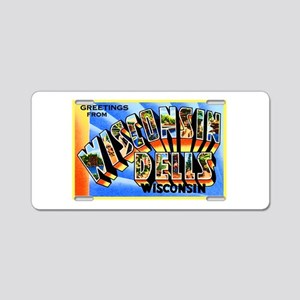 Wisconsin Dells Greetings Aluminum License Plate