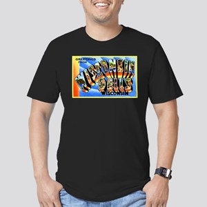Wisconsin Dells Greetings Men's Fitted T-Shirt (da