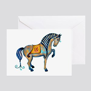 tang horse two transp Greeting Card
