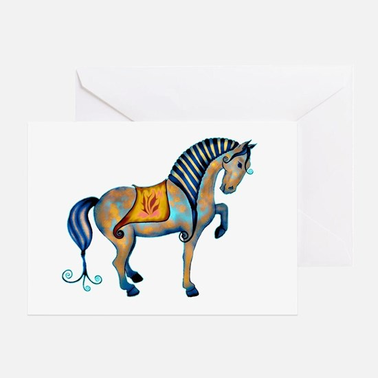 tang horse two transp.png Greeting Card