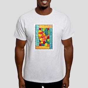 Autumn Quilt Watercolor Ash Grey T-Shirt